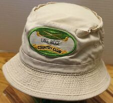 NICE YOUTH LAKE RIDGE COUNTY CLUB BEIGE BUCKET HAT IN VERY GOOD CONDITION