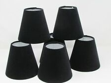 Small Candle Clip Tapered Lampshade LIghtshade Chandelier Black Velvet