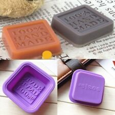 2PCS DIY Silicone Silicon Soap Mold Making Mould Rectangle Stand Hand Made DJ8Z
