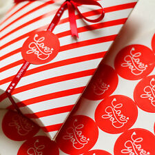 Seal Label 18pcs Red Love You Stickers For Gift Cup Box Bag Party Decoration