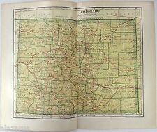 Original 1912 Map of Colorado by L. L Poates