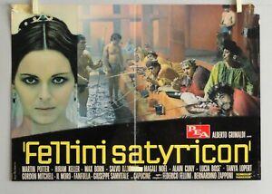 FELLINI SATYRICON - L. BOSE' - S. RANDONE FOTOBUSTA ORIGINALE 1969 - CM. 33 X