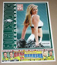 RARE 2003 LAUREN SELIM PHILADELPHIA EAGLES CHEERLEADERS FOOTBALL POSTER 9X12