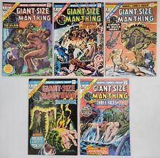 5) 1974-75 Marvel Comics Books Giant-Size Man-Thing #1-#5 Howard The Duck Avg-VF