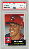 Juan Soto Washington Nationals 2018 Topps Living Baseball Rookie Card #43 PSA 10