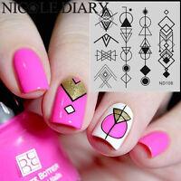 NICOLE DIARY-108 Nail Art Stamping Image Plates DIY Stamping Template