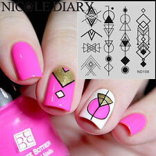 NICOLE DIARY-108 Nail Art Stamping Plates DIY Liner Image Stamp Template