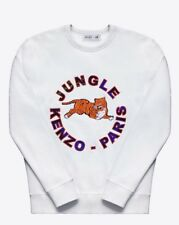 *EXCELLENT* KENZO JUNGLE H&M WHITE SWEATER SWEATSHIRT XS