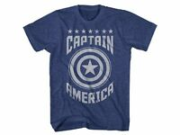 Captain America Varsity Logo Marvel Comics Adult T-Shirt