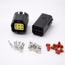 1 set 6 Pin Way Waterproof Wire Connector Plug Car Auto Sealed Electrical Set