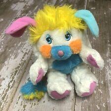 "Vintage 1986 Mattel Popples 12"" Puffball White Blue Pink Yellow Plush Rare"