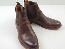Florsheim Men's Brown Leather Slip On Chelsea Ankle Dress Casual Boots Sz 10.5 M