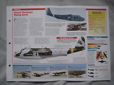 Aircraft of the World Card 45 , Group 12 - Blohm und Voss BV 222 Wiking