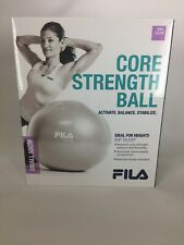 NEW FILA Stability exercise Ball with Pump 55cm small lilac Core Strength new.