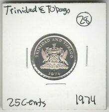 Trinidad and Tobago, 25 Cents 1974 Proof Coin (UNC) #417