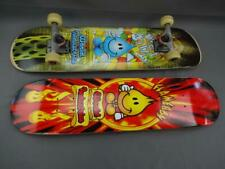 2 Vint World Industries Skate Board Decks 1 w Wheels Trucks Wet Willy FlameBoy
