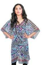Women Printed Kaftan Dress Beaded Dress Plus Size Summer Dress Beach Cover Up
