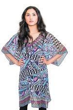 Women Summer Digital Printed Beaded Kaftan Casual Summer Dress Long Beach Cover