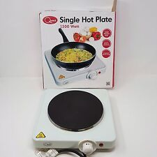 Quest Electric Hot Plate 1500 Watt / Camping  / Portable Hob Single White 35240