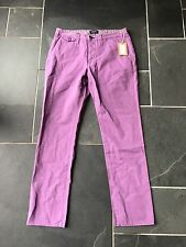 Paul Smith VIOLA BOTTONI FLY Chino stile jeans pantaloni 32 R