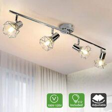 4 Lights Track Lighting Kit 4 Way Modern Flush Mount Ceiling & Wall Decorative
