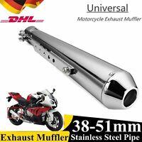 38mm-51mm Universal Motorrad Auspuffanlage Endschalldämpfer Endtopf Auspuff DE
