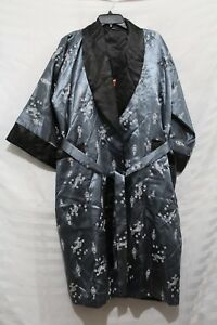 Reversible Japanese silk floral and embroidered dragon kimono brand new w/o tags