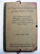 RARE 1910 U.K. Ed. PRACTICAL EXEMPLAR OF ARCHITECTURE w/ELMER GREY BOOKPLATE