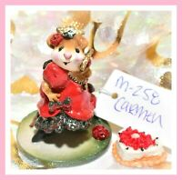 ❤️Wee Forest Folk M-258 Carmen Spanish Dancer Red Dress Mouse Retired WFF❤️