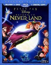 Peter Pan: Return to Neverland (Blu-ray+DVD+Digital, 2012) NEW w/ Slipcover OOP