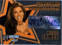 WWE Mickie James 2006 Topps Heritage Chrome Chromagraph Authentic Autograph Card