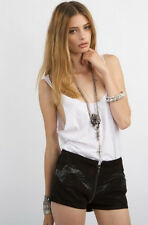 NWT Stylestalker Black Viper Room Shorts Planet Blue Shopbop Sz 4 Retail $160