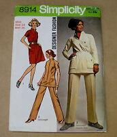"VINTAGE SIMPLICITY WOMENS DRESS PATTERN 1970s BUST 36"" 8914"