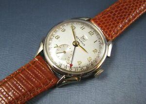 Vintage Benrus Date Pointer 10k Gold RGP Mens Calendar Watch 17J CE3 1950s