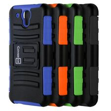 Holster Hard Cover Belt Clip Stand Tough Hybrid Case for HTC Desire 520 Phone