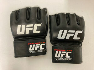NEW! Official UFC MMA Fight Gloves - Leather Mixed Martial Arts Black XL X-Large