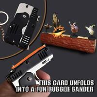 6-Schuss mit Schlüsselbund Gummiband 100 Gummibandpistole Metal Folding neu