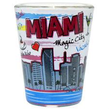 MIAMI FLORIDA SKYLINE HEART POP ART SHOT GLASS SHOTGLASS