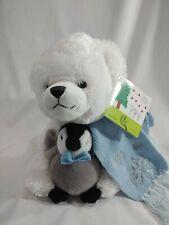 "Bearington Collection St. Jude 2007 Toby and Tux 12"" Plush Bear & Penguin"