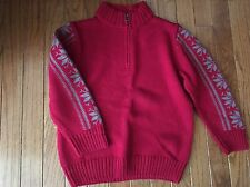 Gymboree ~ Dark Red Mock Sweater with Snowflake Design ~ Small 5 6