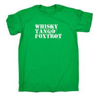 Funny Novelty T-Shirt Mens tee TShirt Whisky Tango Foxtrot