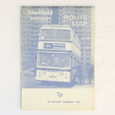 More details for sheffield transport route map 7th edition february 1972 excellent condition