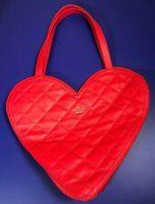 Kate Spade Quilted Leather Heart Shaped Tote Bag Hobo Purse Valentines