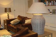 FLAMANT RENE RATTAN 62 cm Huge Rattan Lamp (Like OKA Tanjore) Plus Linen Shade