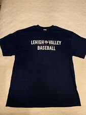 Lehigh Valley Iron Pigs Phillies Opening Night Baseball Adult Blue T-Shirt, L