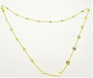 Slice Polki Diamond Necklace 92.5 Fine Silver Gold Filled Jewelry Wedding Gift