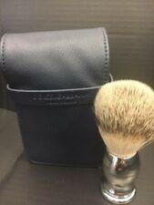 Dolce Gabbana Blue dopp kit case bag travel with shaving brush New