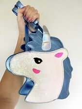Unicorn Glitter Sparkling Blue Hologram Harajuku Kawaii Crossbody Bag Handbag