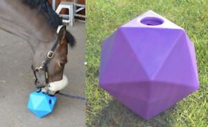 """Equine Horse and Pony Treat Snack Ball. 9"""" (6 litre) Feeder PURPLE *New*"""
