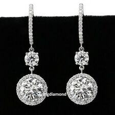 Beautiful 3.25ct Off White Round Cut Moissanite 925 Sterling Silver Stud Earring